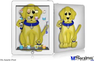 iPad Skin - Puppy Dogs on White