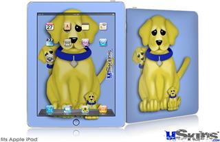 iPad Skin - Puppy Dogs on Blue