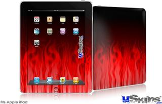 iPad Skin - Fire Flames Red