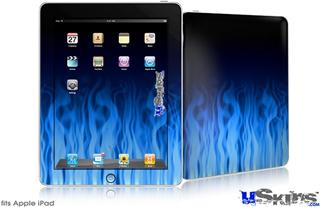 iPad Skin - Fire Flames Blue