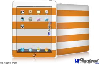 iPad Skin - Psycho Stripes Orange and White