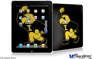 iPad Skin - Iowa Hawkeyes Herky on Black