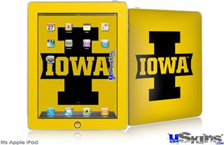 iPad Skin - Iowa Hawkeyes 04 Black on Gold