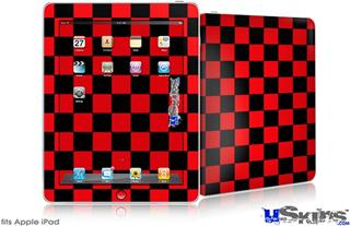 iPad Skin - Checkers Red