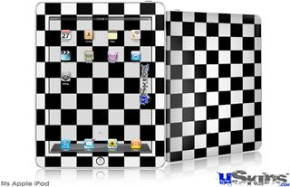 iPad Skin - Checkers White