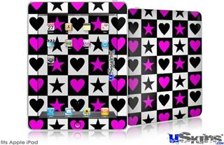 iPad Skin - Hearts And Stars Pink