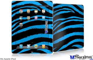 iPad Skin - Zebra Blue
