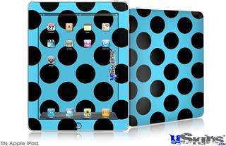 iPad Skin - Kearas Polka Dots Black And Blue