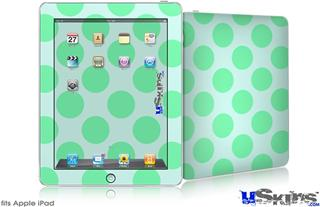 iPad Skin - Kearas Polka Dots Green On Green