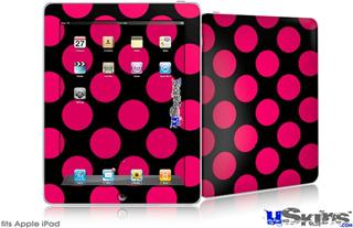 iPad Skin - Kearas Polka Dots Pink On Black