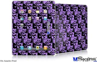 iPad Skin - Skull Checker Purple