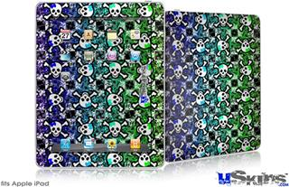 iPad Skin - Splatter Girly Skull Rainbow