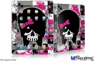 iPad Skin - Scene Kid Girl Skull