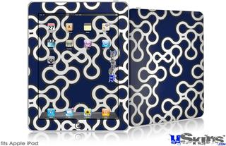 iPad Skin - Locknodes 03 Navy Blue