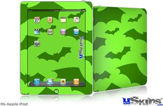 iPad Skin - Deathrock Bats Green
