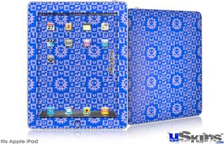 iPad Skin - Gothic Punk Pattern Blue