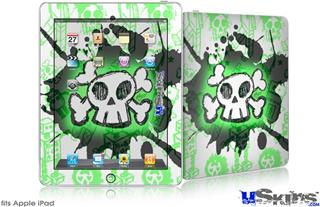 iPad Skin - Cartoon Skull Green