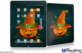 iPad Skin - Halloween Mean Jack O Lantern Pumpkin