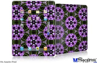 iPad Skin - Floral Pattern Purple