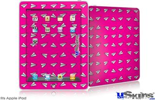 iPad Skin - Paper Planes Hot Pink