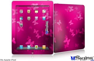 iPad Skin - Bokeh Butterflies Hot Pink