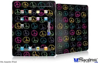 iPad Skin - Kearas Peace Signs Black