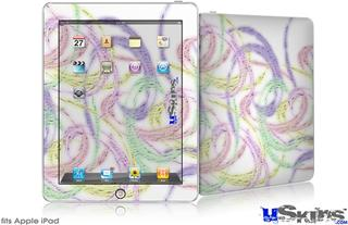 iPad Skin - Neon Swoosh on White