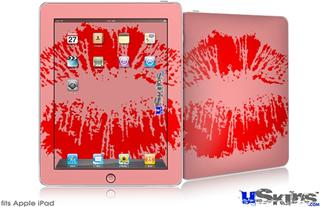 iPad Skin - Big Kiss Red on Pink