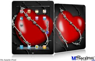 iPad Skin - Barbwire Heart Red