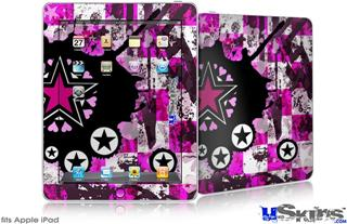 iPad Skin - Pink Star Splatter