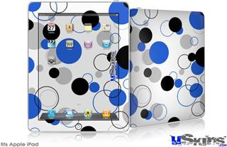 iPad Skin - Lots of Dots Blue on White