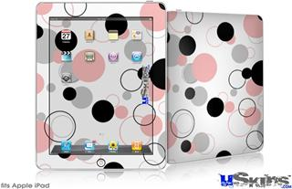 iPad Skin - Lots of Dots Pink on White