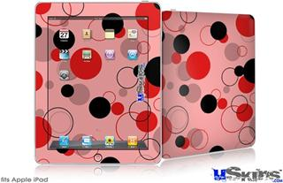 iPad Skin - Lots of Dots Red on Pink