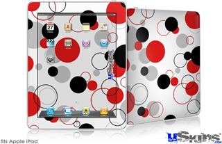 iPad Skin - Lots of Dots Red on White