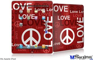 iPad Skin - Love and Peace Red