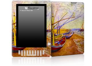Vincent Van Gogh Boats Of Saintes-Maries - Decal Style Skin for Amazon Kindle DX