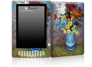 Vincent Van Gogh Flowers In A Blue Vase - Decal Style Skin for Amazon Kindle DX