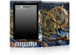 Vincent Van Gogh Four Sunflowes Gone To Seed - Decal Style Skin for Amazon Kindle DX