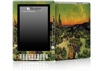 Vincent Van Gogh Landscape With Couple Walking And Crescent Moon - Decal Style Skin for Amazon Kindle DX