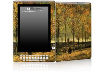Vincent Van Gogh Lane With Poplars - Decal Style Skin for Amazon Kindle DX