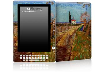 Vincent Van Gogh Path Through A Field With Willows - Decal Style Skin for Amazon Kindle DX
