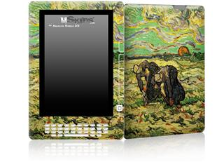 Vincent Van Gogh Two Peasant Women Digging In Field With Snow - Decal Style Skin for Amazon Kindle DX