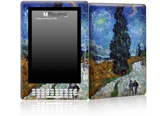 Vincent Van Gogh Van Gogh - Country Road In Provence By Night - Decal Style Skin for Amazon Kindle DX