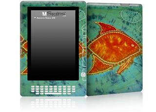 Tie Dye Fish 100 - Decal Style Skin for Amazon Kindle DX