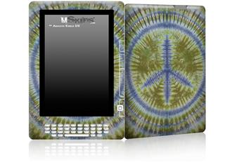 Tie Dye Peace Sign 102 - Decal Style Skin for Amazon Kindle DX