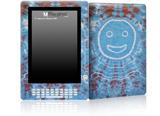 Tie Dye Happy 101 - Decal Style Skin for Amazon Kindle DX