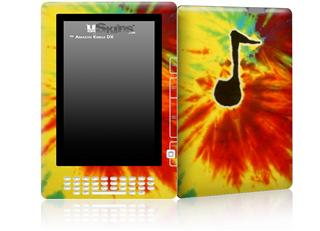 Tie Dye Music Note 100 - Decal Style Skin for Amazon Kindle DX