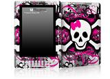 Splatter Girly Skull - Decal Style Skin for Amazon Kindle DX