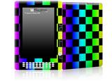 Rainbow Checkerboard - Decal Style Skin for Amazon Kindle DX
