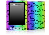 Rainbow Skull Collection - Decal Style Skin for Amazon Kindle DX